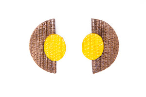 Half moon, earrings