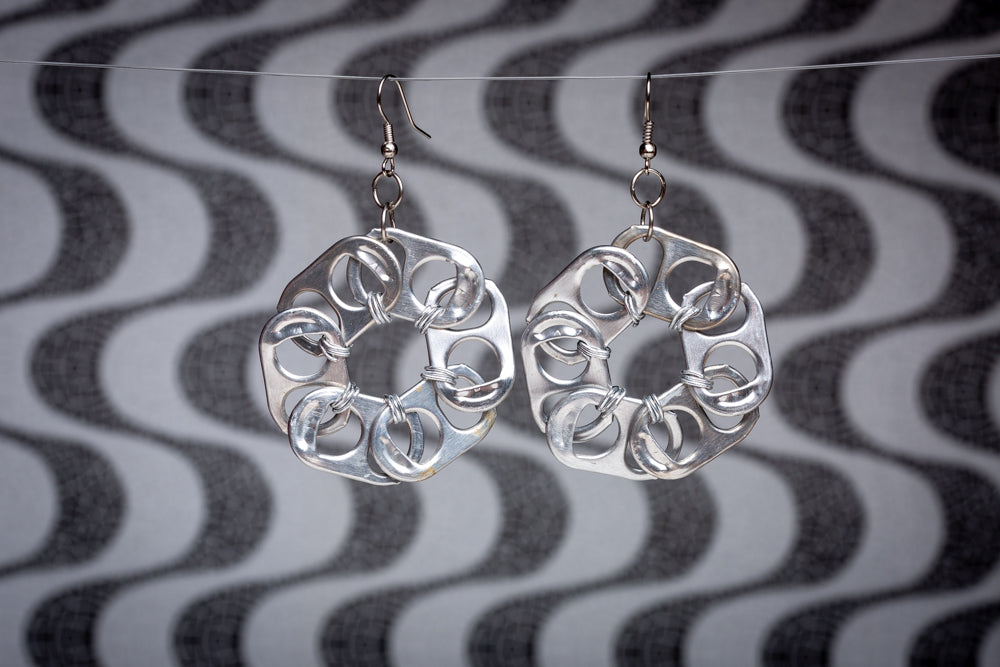 Flores, soda pop-ups earrings