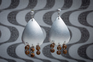 Drops of tin, earrings