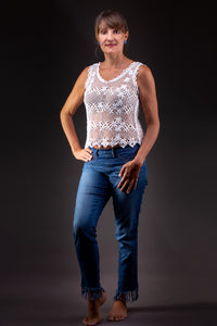 Purity, bobbin lace tank top