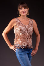 Load image into Gallery viewer, Sand, bobbin lace shirt