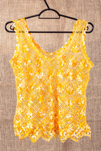 Load image into Gallery viewer, Spring flowers, bobbin lace tank top
