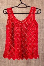 Load image into Gallery viewer, Passion, bobbin lace tank top