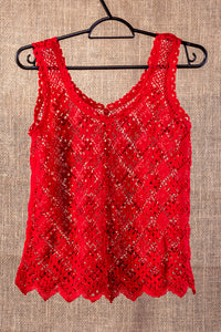 Passion, bobbin lace tank top