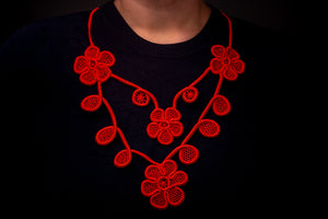 Passion, lace necklace