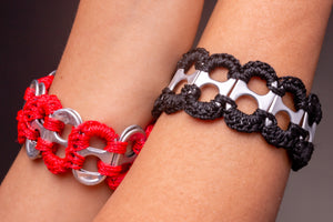 Up and down, soda pop ups bracelet