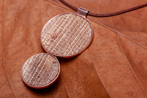 Bubbles, rose golden plated collection, pendant
