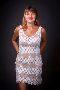 Pureness, bobbin lace dress