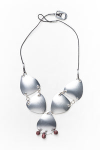Drops of tin, necklace