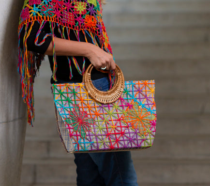 embroidery filé handbag