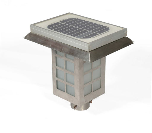 SOLAR EXTERIOR GATE & BOLLARD LAMP IN STAINLESS STEEL BODY WITH AC CHARGING