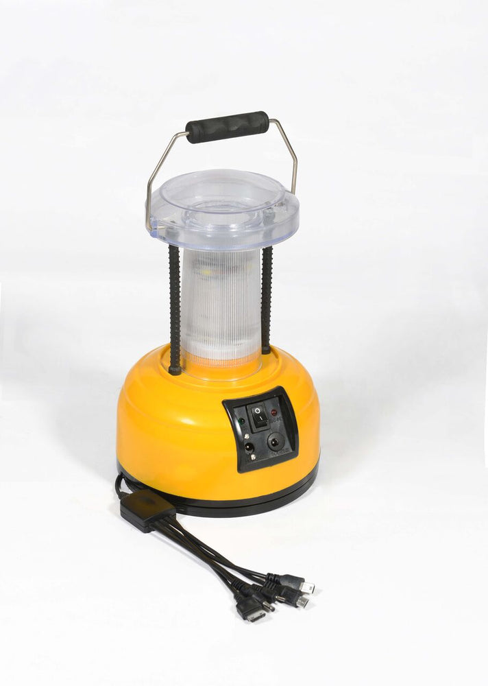 Solar LED Lamp with 16 LEDs and Hi-Low option with mobile charging