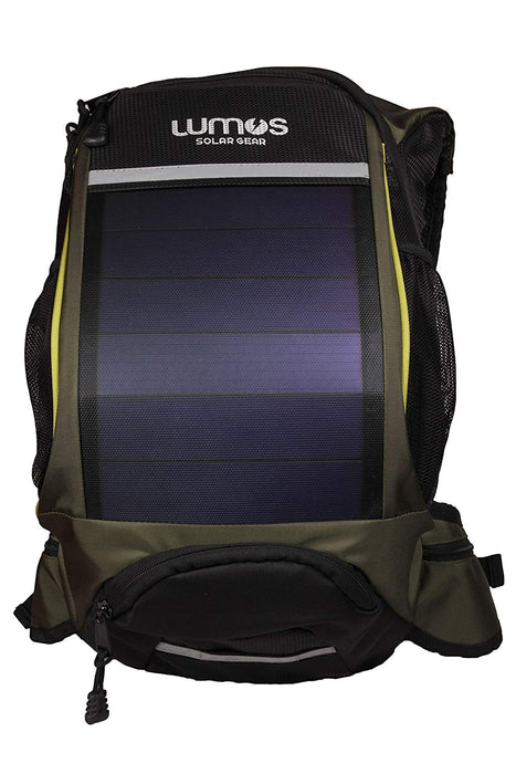 SOLAR BACKPACK : LUMOS THRILLSEEKER FOR CYCLISTS GREEN