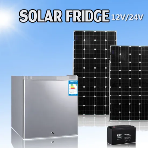 Solar Fridge 220 Single Door Silver 12 V DC Operated , High Ennergy Efficient