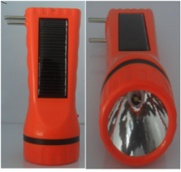 SOLAR LED TORCH WITH SOLAR & ELECTRICITY CHARGING