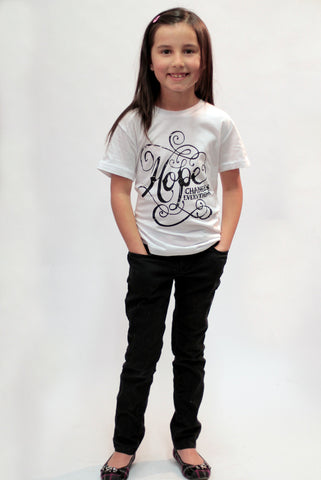 Use this Youth Sized 'Hope Changes Everything' T-Shirt for your next Fundraiser.