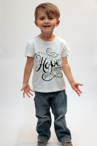 Use this Toddler Sized, Artist Designed 'Hope Changes Everything' T-Shirt for your next Fundraiser.