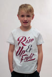 Use this Artist Designed Youth Sized 'Rise Up and Fight' T-Shirt for your next Fundraiser.