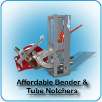Affordable Bender, tube notchers, bending dies
