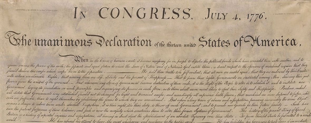 Declaration of Independence | July 4th, 1776 | Firecracker Journal