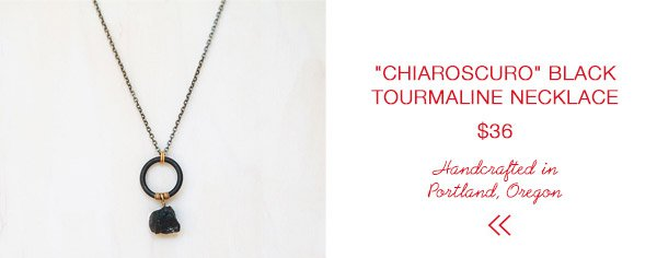 """Chiaroscuro"" Black Tourmaline Necklace 