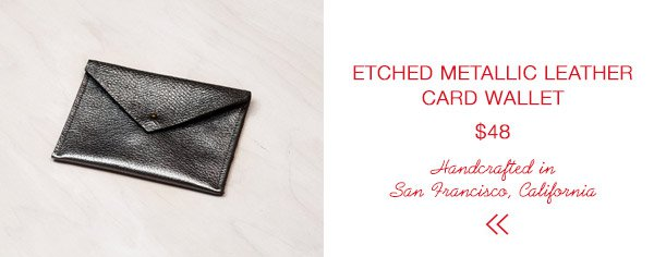 Molly M Designs Etched Metallic Leather Card Pouch | Last Minute Gift Guide | Firecracker Journal