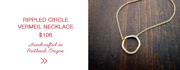 Andrea Wysocki Rippled Vermeil Circle Necklace | Last Minute Gift Guide | Firecracker Journal