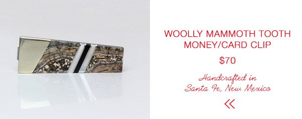 Santa Fe Stoneworks Wooly Mammouth Tooth Money Clip/Card Holder | Last Minute Gift Guide | Firecracker Journal