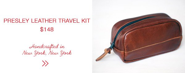 Jack + Mulligan Presely Leather Travel Kit | Last Minute Gift Guide | Firecracker Journal