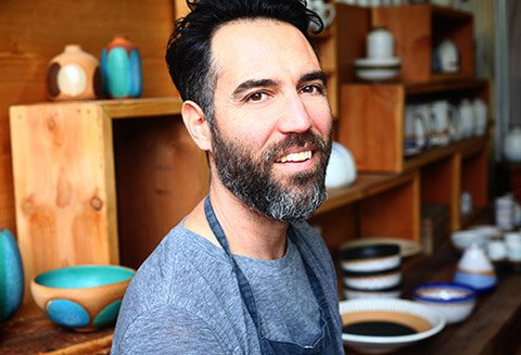 Natan Moss Ceramics, Los Angeles California | Firecracker