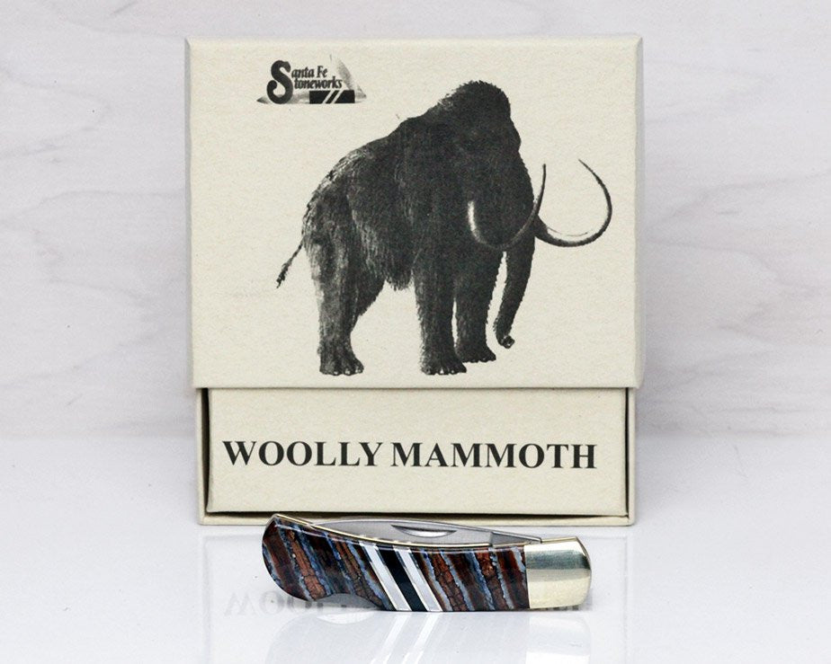 Woolly Mammoth Tooth Lockback Pocket Knife