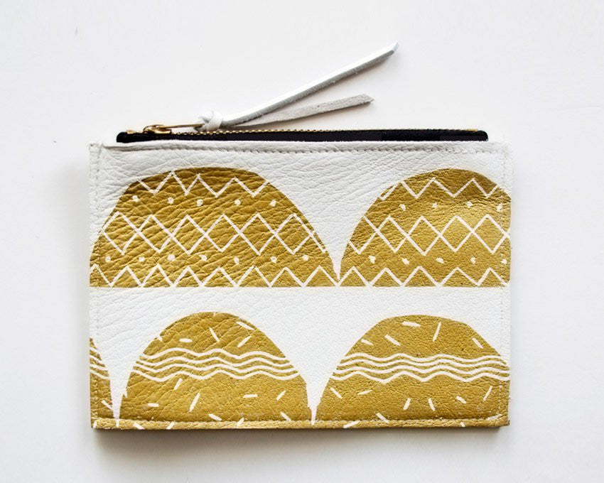 Arches Zip Wallet (White Leather)