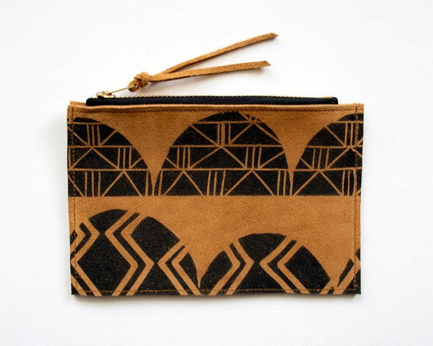 Arches Zip Wallet (Tobacco Suede)