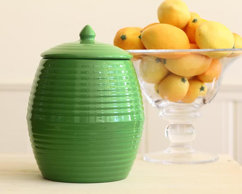Bauer Pottery Parrot Green Cookie Jar