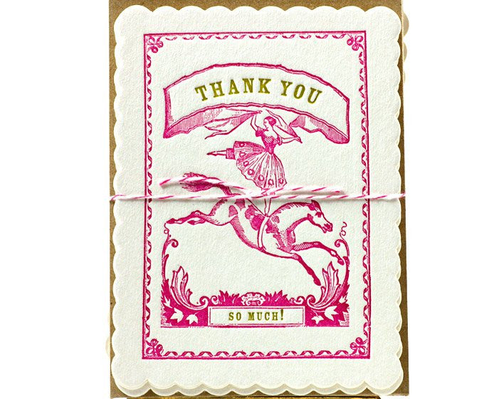 "Atelier Austin Press | ""Circus Girl"" Thank You Set 