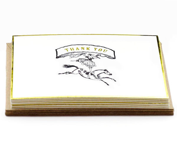 "Austin Press | ""Circus"" Letterpress Thank You Card Set 