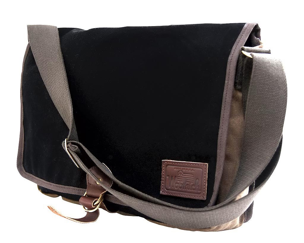 Frost River | Wool Messenger Bag (Black) | Firecracker
