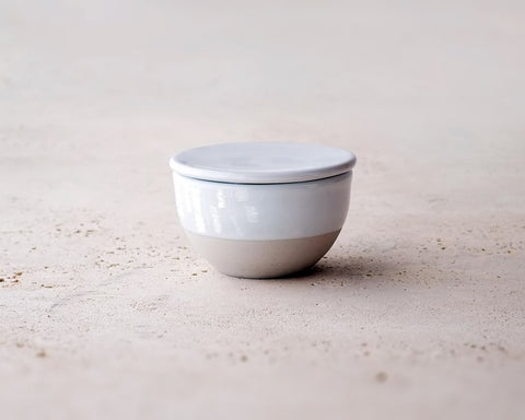 Irving Place Studio | Porcelain Jar w/ White Glaze | Firecracker