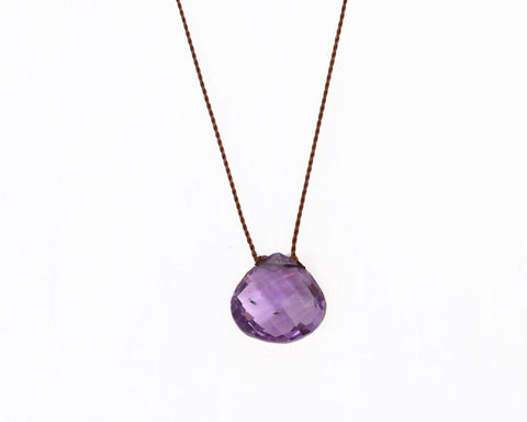 "Margaret Solow Jewelry | Amethyst ""Zen Gem"" Necklace 