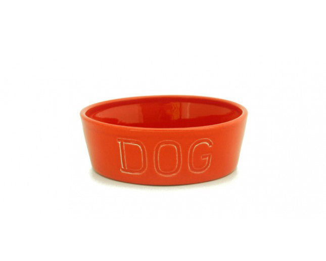 Bauer Pottery Co. | Bauer Orange Dog Bowl | Firecracker