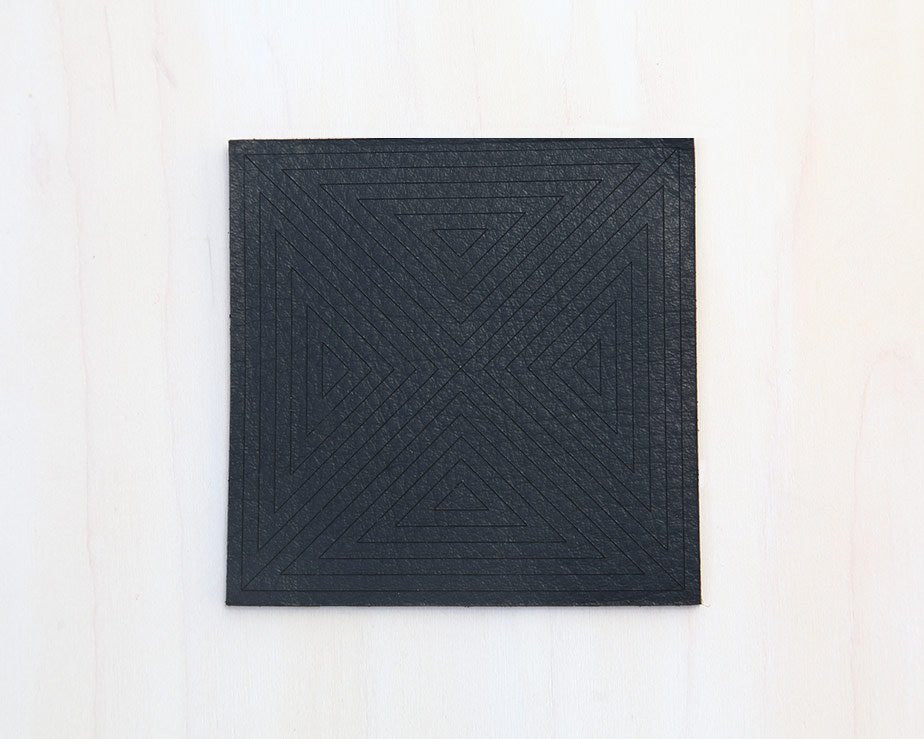Point Slate Leather Coasters