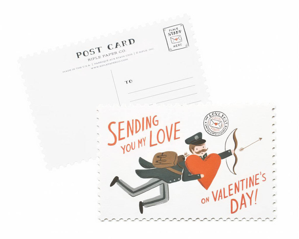 "Rifle Paper Co. | ""Share the Love"" Valentine's Day Postcards (Set of 12) 