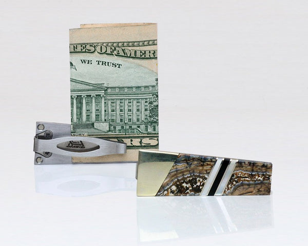 Woolly Mammoth Tooth Money Clip/Card Holder