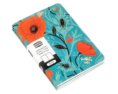 "Scout Books | ""Poppies"" Pocket Notebooks 