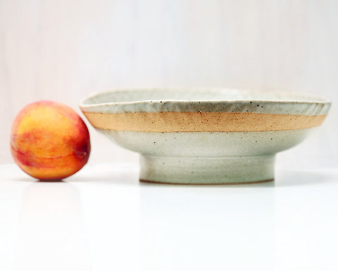 Len Carella Ceramics | Textured Stoneware Bowl | Firecracker