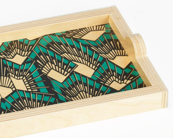 Wolfum | Deco Teal Mini Tray | Firecracker