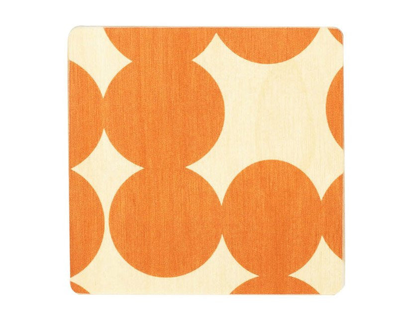 Wolfum | Orange Dot Coasters | Firecracker
