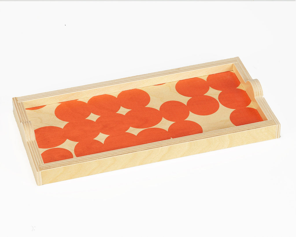 Wolfum | Orange Dot Mini Tray | Firecracker