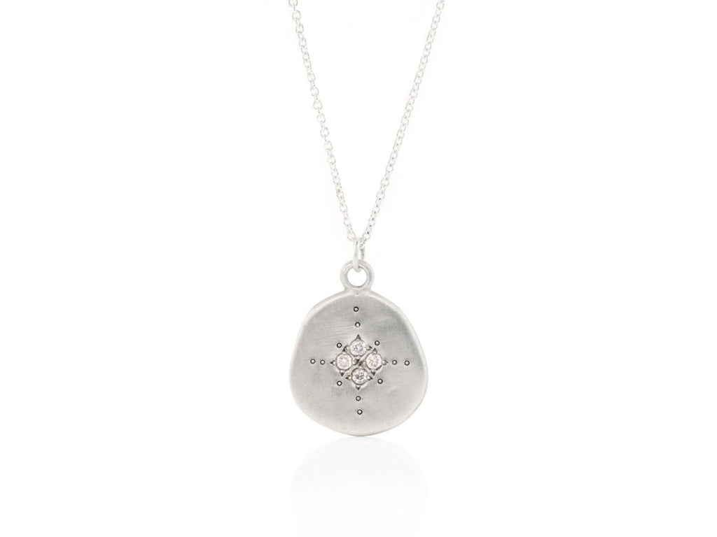 Adel Chefridi Studio | Diamond + Sterling Silver Organic Four Star Pendant Necklace | Firecracker