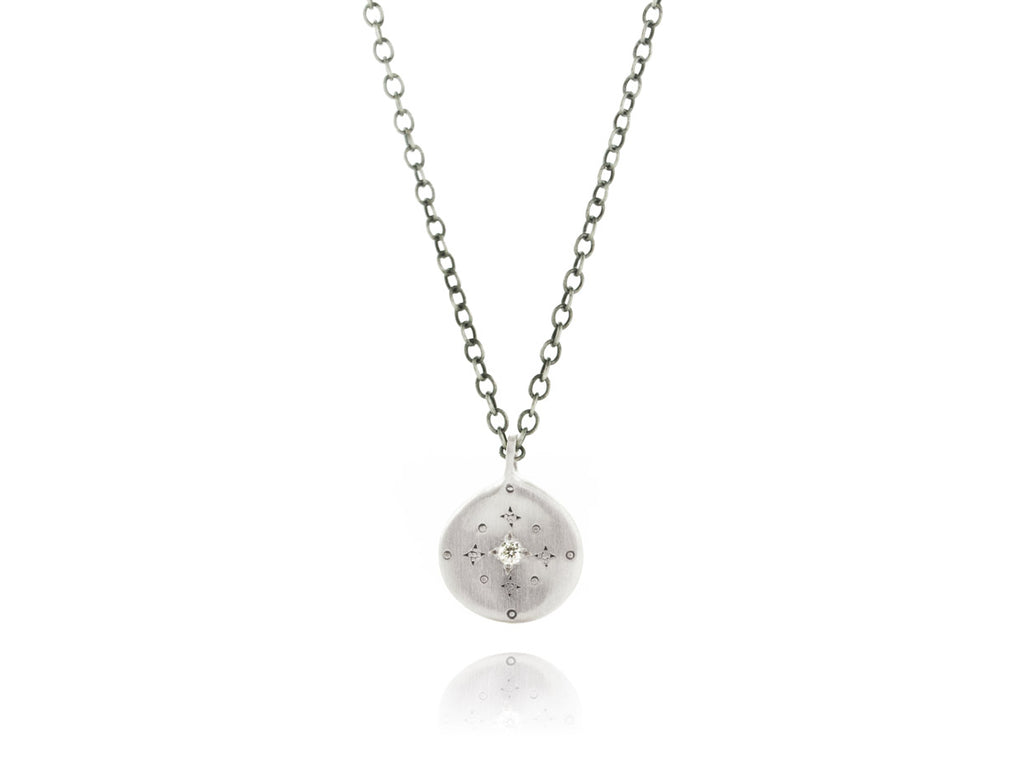 Adel Chefridi Studio | Diamond + Sterling Silver New Moon Charm Necklace | Firecracker